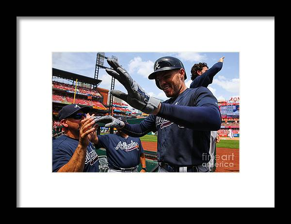 People Framed Print featuring the photograph Freddie Freeman by Dilip Vishwanat