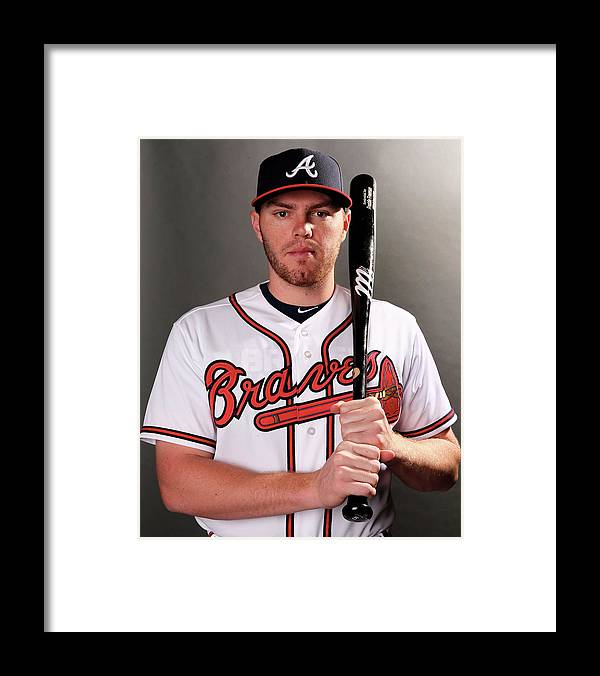 Media Day Framed Print featuring the photograph Freddie Freeman by Elsa