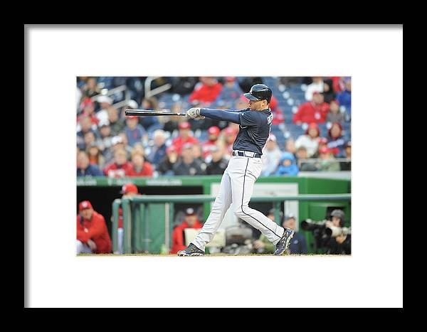 Motion Framed Print featuring the photograph Freddie Freeman by Mitchell Layton