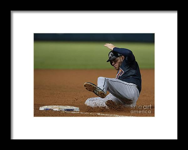 American League Baseball Framed Print featuring the photograph Freddie Freeman by Rick Yeatts