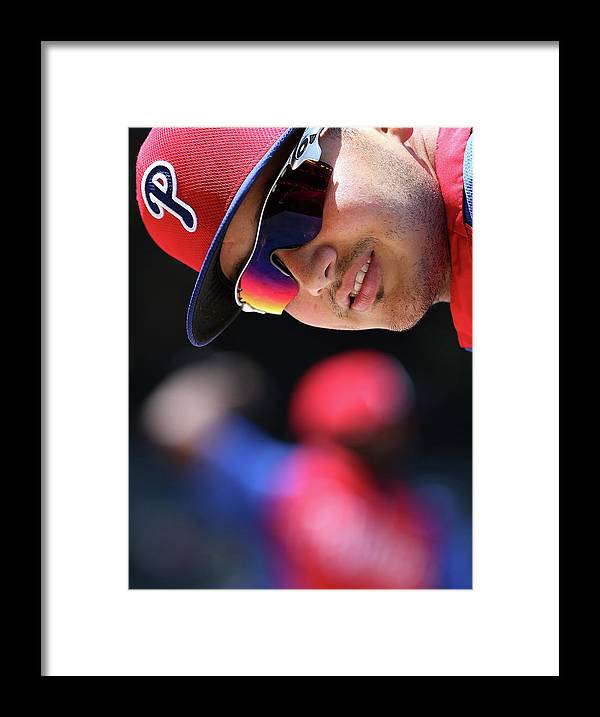 National League Baseball Framed Print featuring the photograph Freddy Galvis by Christian Petersen