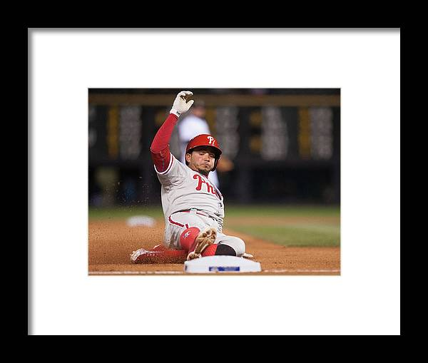 People Framed Print featuring the photograph Freddy Galvis by Dustin Bradford