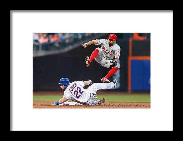 Double Play Framed Print featuring the photograph Freddy Galvis by Mike Stobe