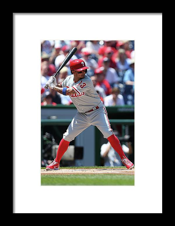 People Framed Print featuring the photograph Freddy Galvis by Patrick Smith