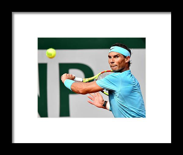 Tennis Framed Print featuring the photograph French Open tennis tournament 2018 - Day 15 by Anadolu Agency
