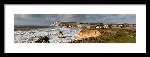 Tranquility Framed Print featuring the photograph Freshwater Bay panorama by s0ulsurfing - Jason Swain