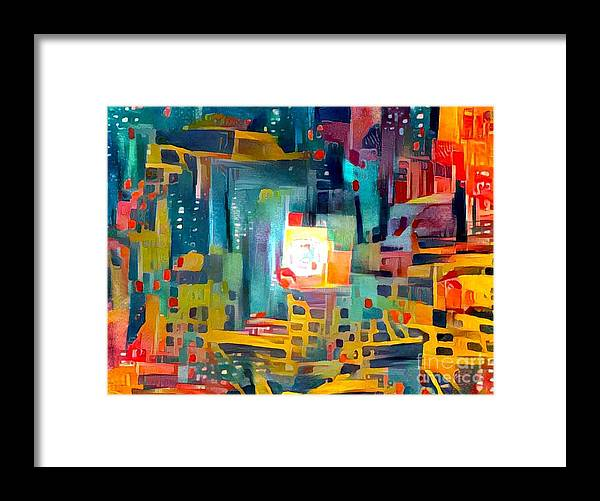 Abstract Framed Print featuring the photograph Full Urban Moon by Eddy Mann
