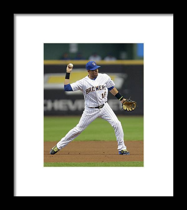 Second Inning Framed Print featuring the photograph Gaby Sanchez and Aramis Ramirez by Mike Mcginnis