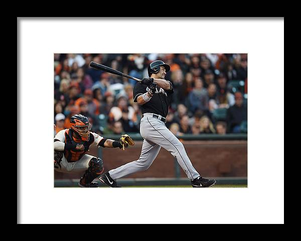 San Francisco Framed Print featuring the photograph Garrett Jones and Casey Mcgehee by Thearon W. Henderson