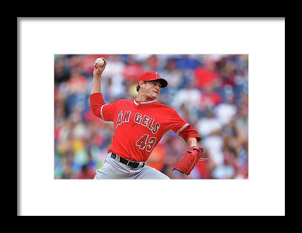 People Framed Print featuring the photograph Garrett Richards by Drew Hallowell