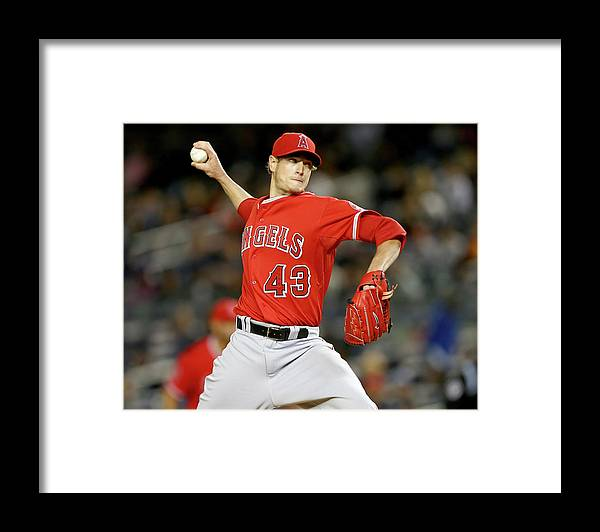 People Framed Print featuring the photograph Garrett Richards by Elsa