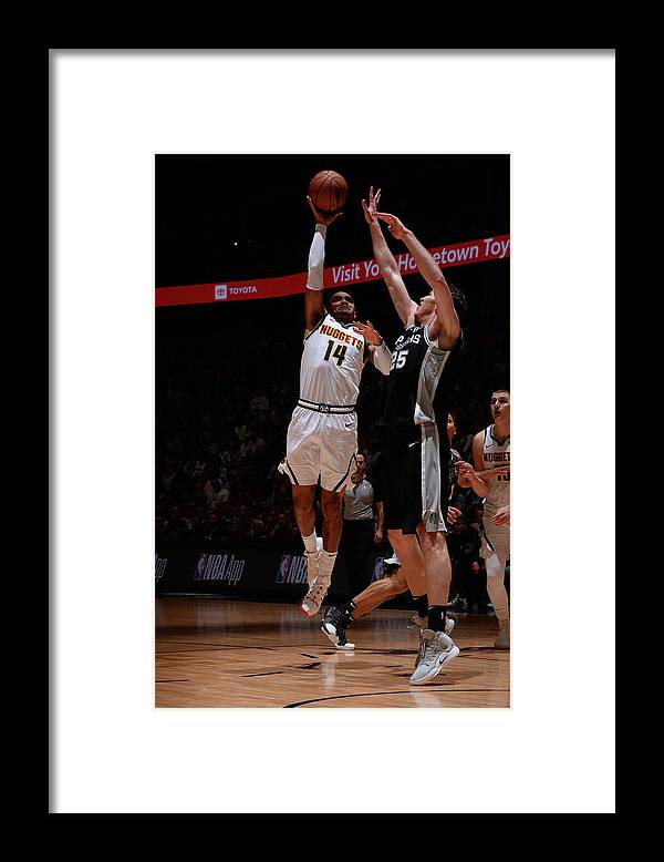 Playoffs Framed Print featuring the photograph Gary Harris by Bart Young