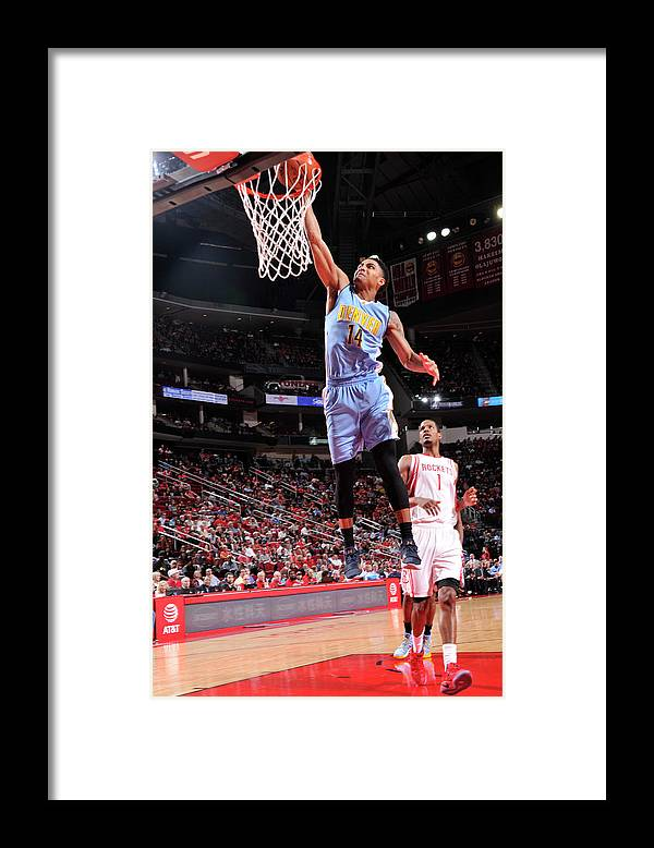 Nba Pro Basketball Framed Print featuring the photograph Gary Harris by Bill Baptist