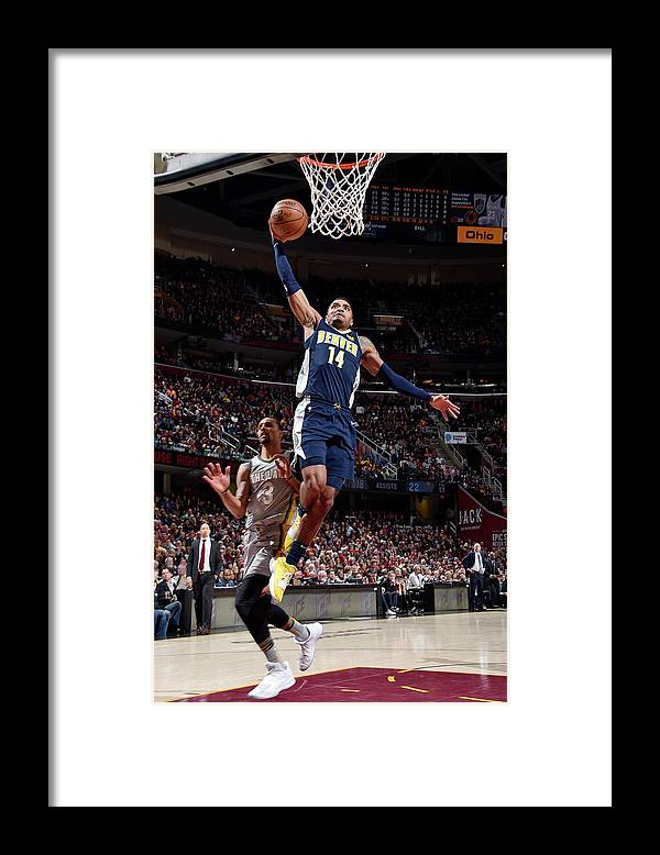Nba Pro Basketball Framed Print featuring the photograph Gary Harris by David Liam Kyle