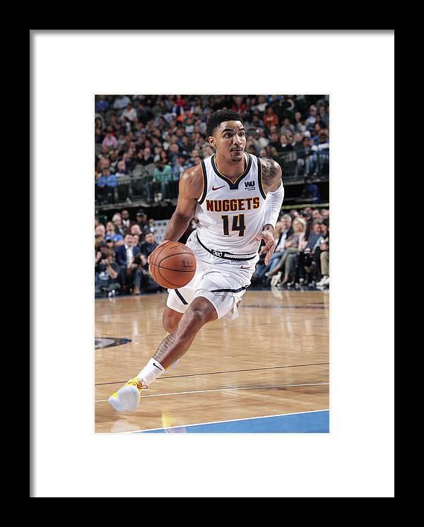 Nba Pro Basketball Framed Print featuring the photograph Gary Harris by Glenn James