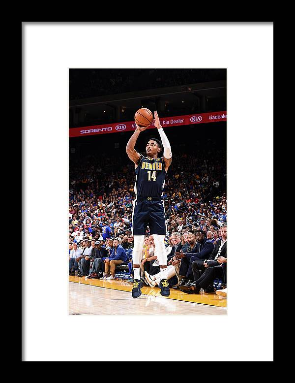 Nba Pro Basketball Framed Print featuring the photograph Gary Harris by Noah Graham