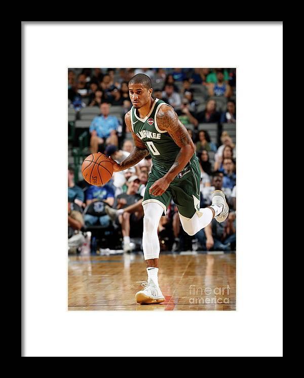 Nba Pro Basketball Framed Print featuring the photograph Gary Payton by Glenn James