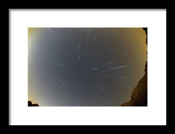 Framed Print featuring the photograph Geminids Meteor Shower 2020 by Prabhu Astrophotography
