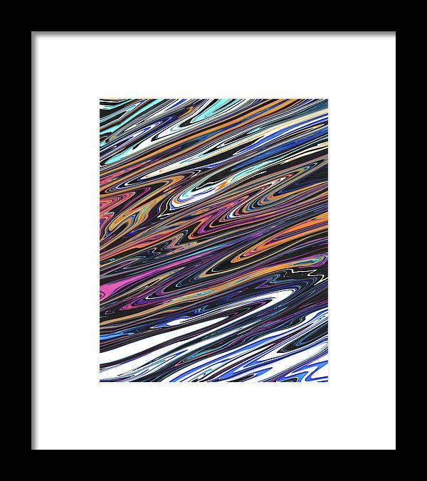 Abstract Framed Print featuring the digital art Genesis Six by Jack Entropy