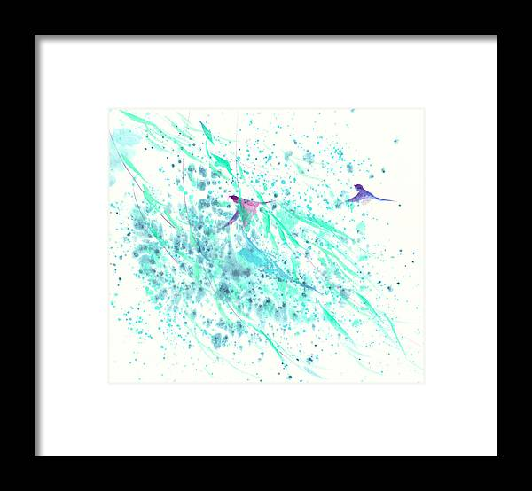 In The Gentle Breeze Framed Print featuring the painting Gentle Breeze by Mui-Joo Wee