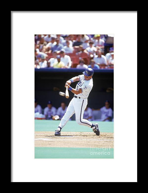 American League Baseball Framed Print featuring the photograph George Brett by Dan Donovan