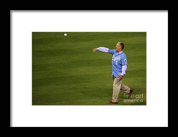People Framed Print featuring the photograph George Brett by Dilip Vishwanat