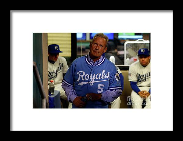 People Framed Print featuring the photograph George Brett by Ed Zurga