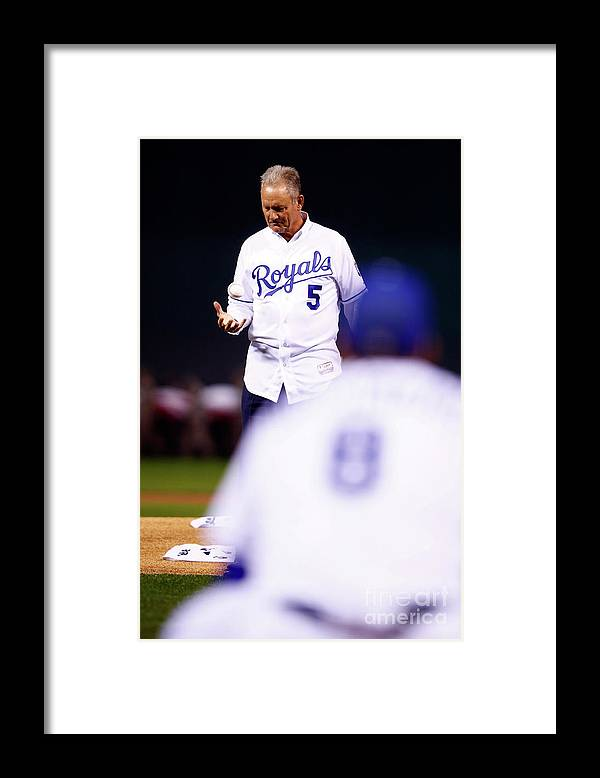 Three Quarter Length Framed Print featuring the photograph George Brett by Jamie Squire