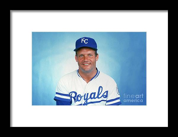 1980-1989 Framed Print featuring the photograph George Brett by Mlb Photos