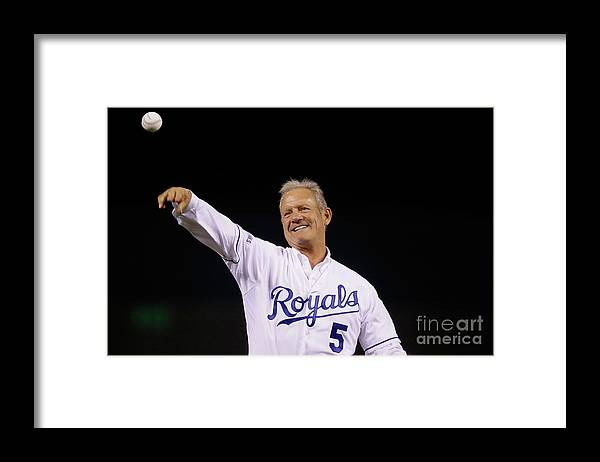 Game Two Framed Print featuring the photograph George Brett by Pool