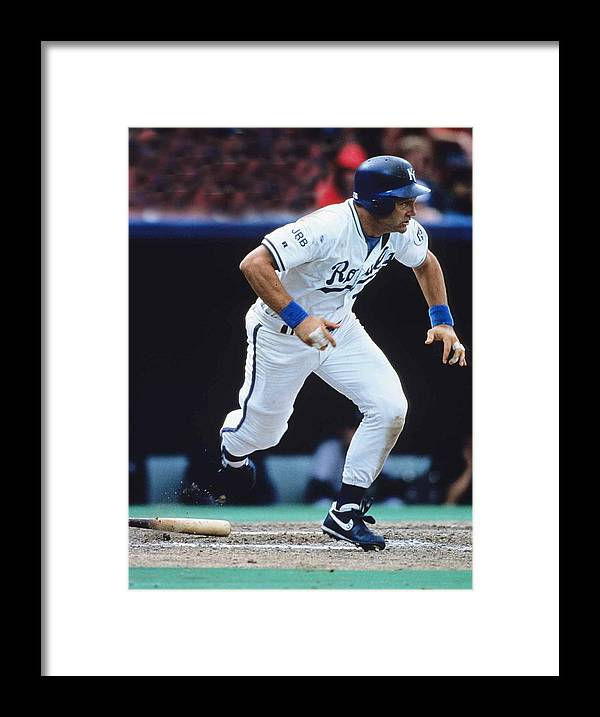 American League Baseball Framed Print featuring the photograph George Brett by Ronald C. Modra/sports Imagery