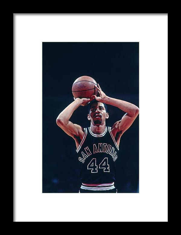 1980-1989 Framed Print featuring the photograph George Gervin by Bill Baptist