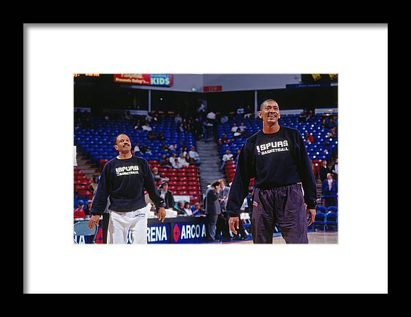 Nba Pro Basketball Framed Print featuring the photograph George Gervin by Rocky Widner