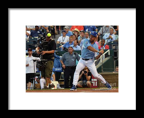 Softball Framed Print featuring the photograph George Hall by Rick Diamond