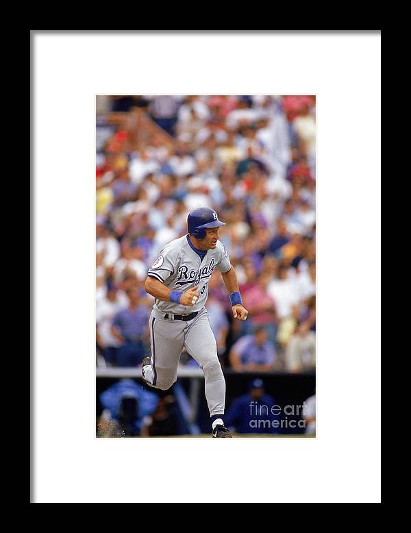 American League Baseball Framed Print featuring the photograph George Hall by Victor Baldizon