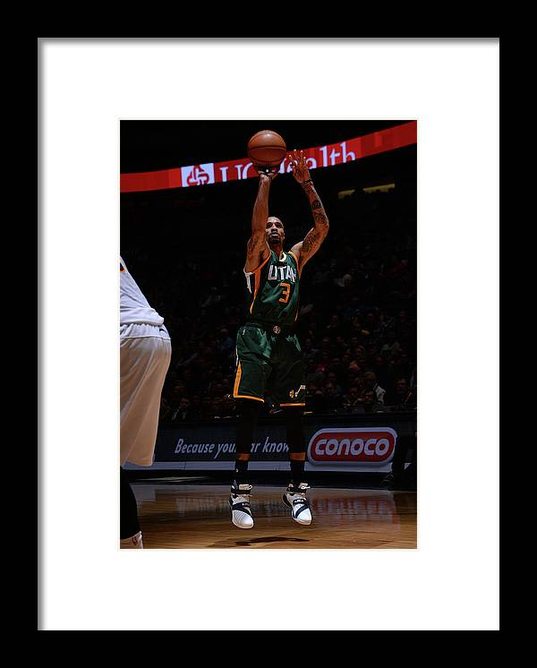 Nba Pro Basketball Framed Print featuring the photograph George Hill by Bart Young