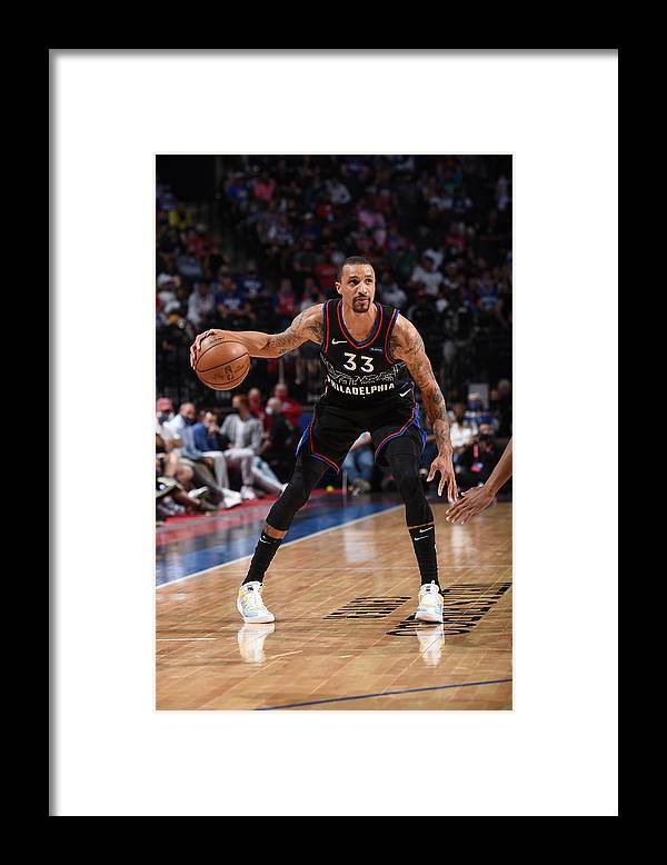 Playoffs Framed Print featuring the photograph George Hill by David Dow