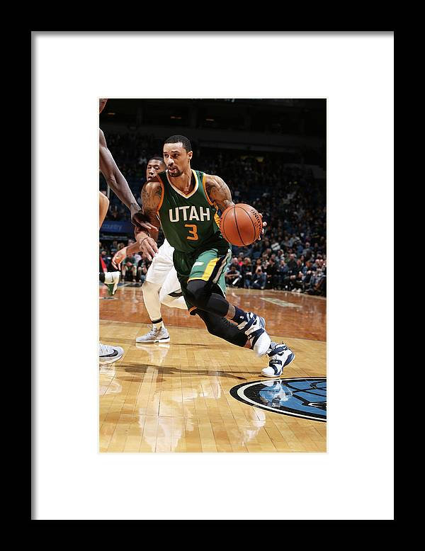 Nba Pro Basketball Framed Print featuring the photograph George Hill by David Sherman