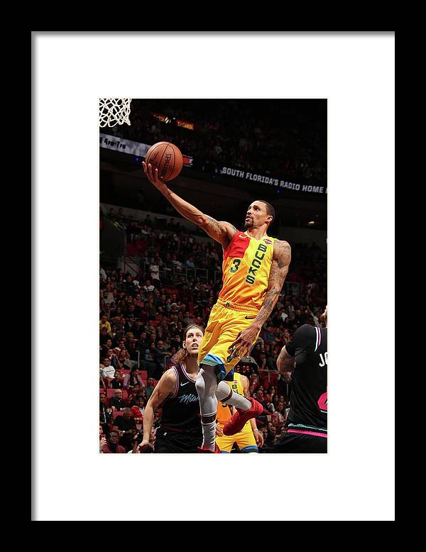 Nba Pro Basketball Framed Print featuring the photograph George Hill by Issac Baldizon