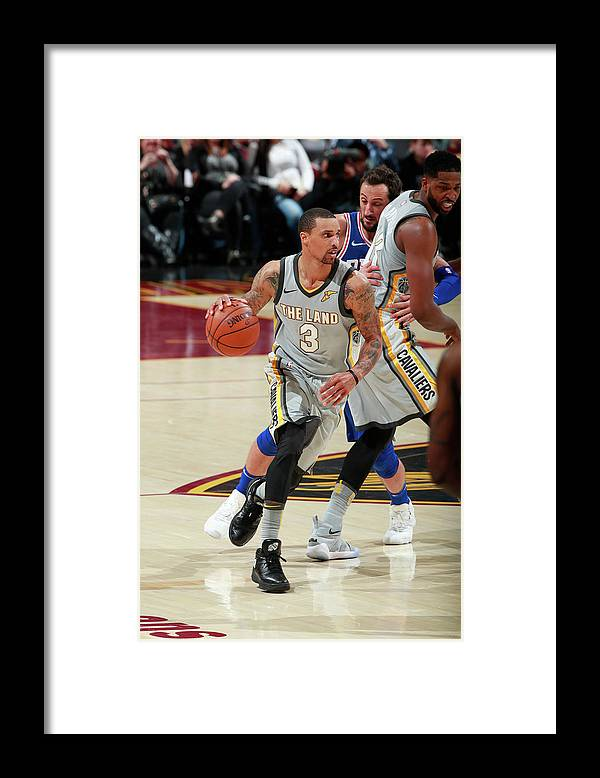 Nba Pro Basketball Framed Print featuring the photograph George Hill by Jeff Haynes