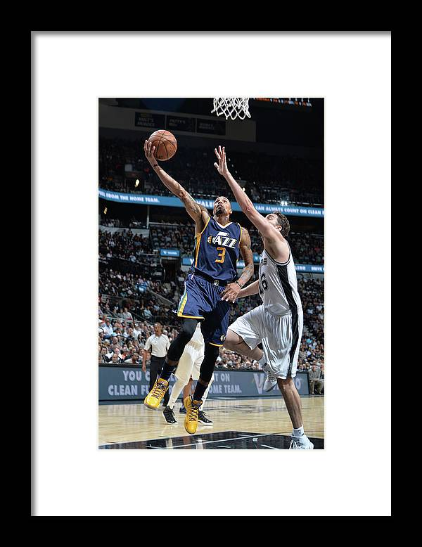 Nba Pro Basketball Framed Print featuring the photograph George Hill by Mark Sobhani