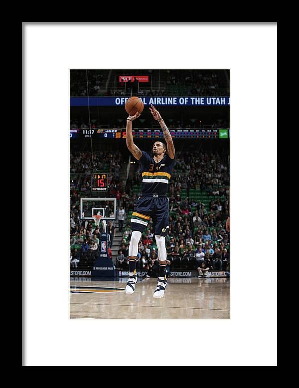 Nba Pro Basketball Framed Print featuring the photograph George Hill by Melissa Majchrzak