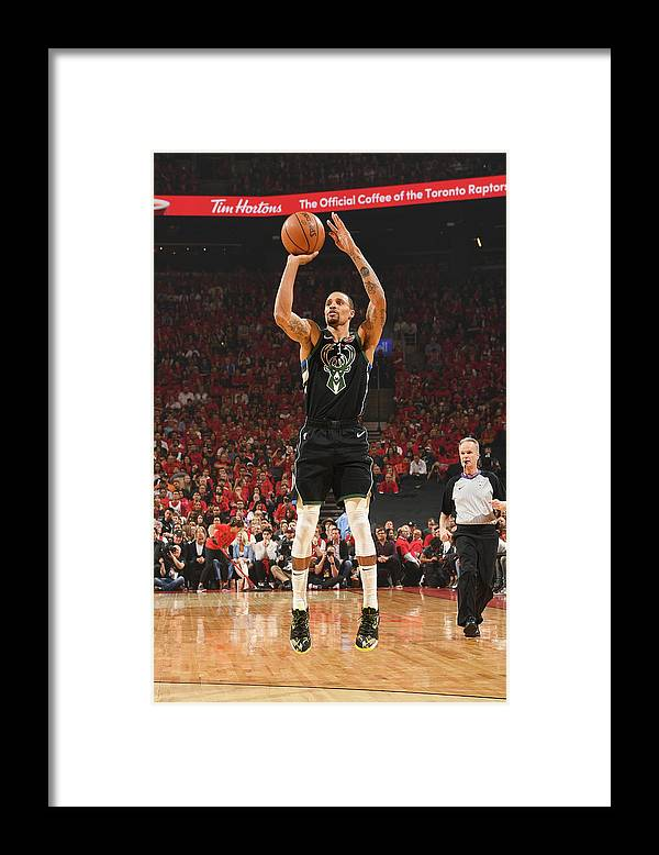 Nba Pro Basketball Framed Print featuring the photograph George Hill by Ron Turenne