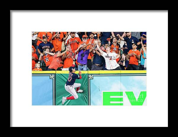 Game Two Framed Print featuring the photograph George Springer and Mookie Betts by Billie Weiss/boston Red Sox