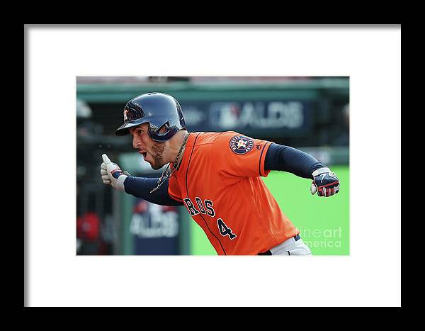 People Framed Print featuring the photograph George Springer by Gregory Shamus
