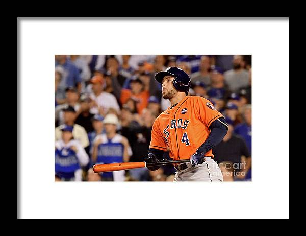Second Inning Framed Print featuring the photograph George Springer by Harry How