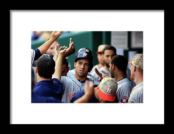 American League Baseball Framed Print featuring the photograph George Springer by Jamie Squire