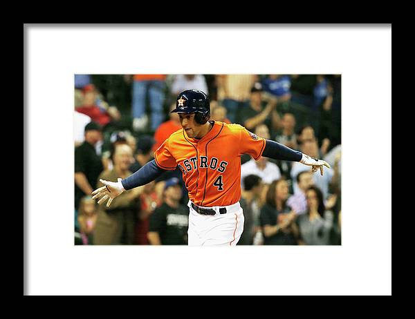 Three Quarter Length Framed Print featuring the photograph George Springer by Scott Halleran