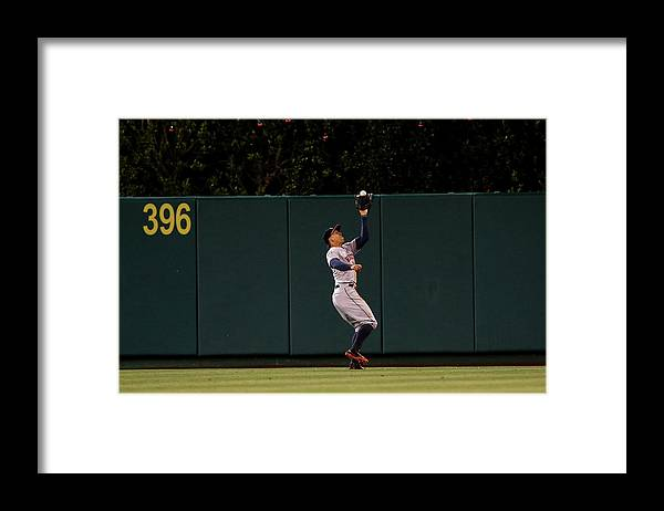 People Framed Print featuring the photograph George Springer by Stephen Dunn