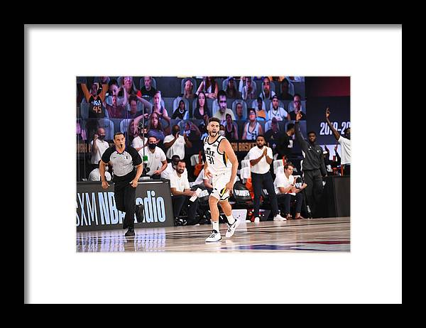 Playoffs Framed Print featuring the photograph Georges Niang by Garrett Ellwood